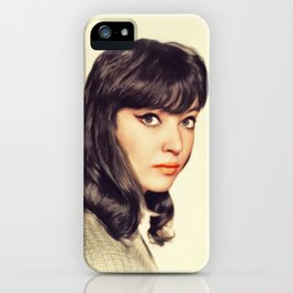 Anna Karina, Vintage Actress iPhone Case
