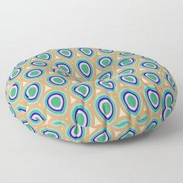 Boho Peacock - Blue Green Floor Pillow
