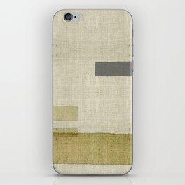 """Burlap Texture Natural Shades"" iPhone Skin"