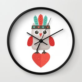 HIPSTER OWLET alternate version Wall Clock