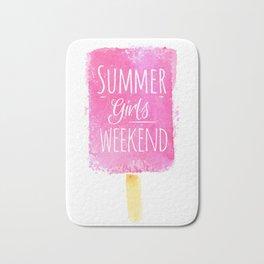 Ice cream summer girls weekend Bath Mat