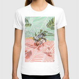 Ying Yang Couple in Bed T-shirt