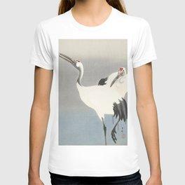 Two Cranes - Vintage Japanese Woodblock Print Art T-shirt
