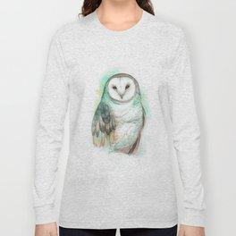 Owl Watercolor painting Long Sleeve T-shirt