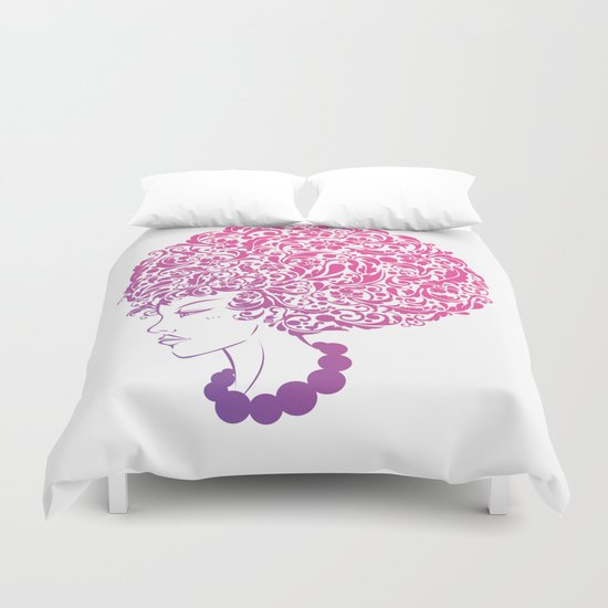 Ms. Floral Duvet Cover