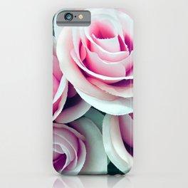 'La Vie Est Belle' (Life is Beautiful) Pink Roses iPhone Case