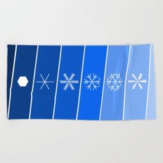 Same same but different | blue Beach Towel
