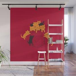 Pocket Cats Wall Mural