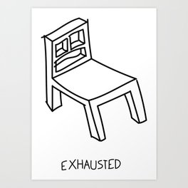 Bad Perspective Chair Art Print