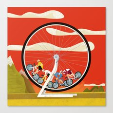 Road Cycling Race Hamster Wheel Challenge Canvas Print