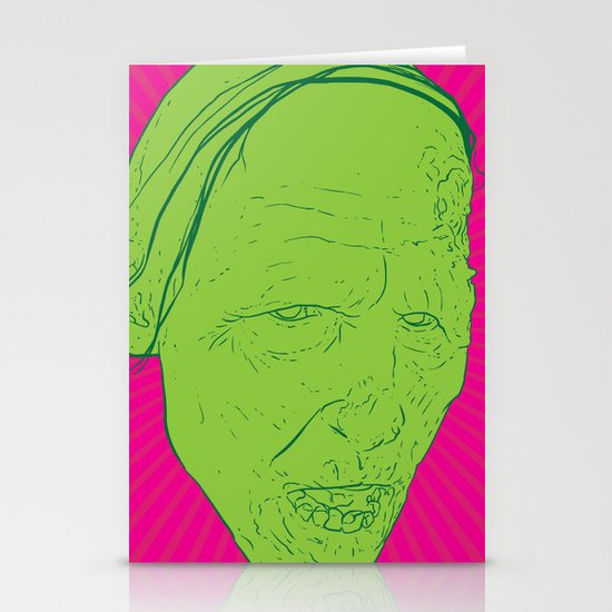 Neon Zombie Stationery Cards