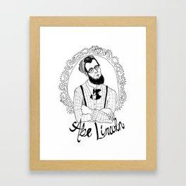 Hipster Abraham Lincoln Framed Art Print