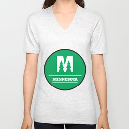 Minnesota Circle Logo Unisex V-Neck