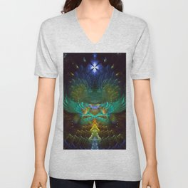 Love Birds - Fractal Manipulation Unisex V-Neck