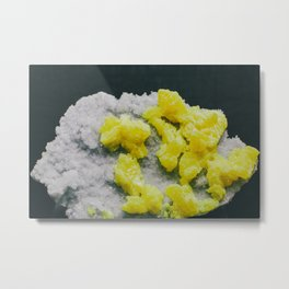 Sulfur on Celestine Metal Print