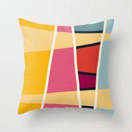 Colorful Geometric Abstract Art - Alraun Throw Pillow