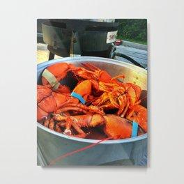 Maine Lobster Pot (3) Metal Print