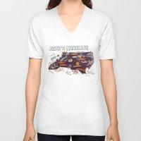 north carolina V-neck T-shirts featuring NORTH CAROLINA by Christiane Engel