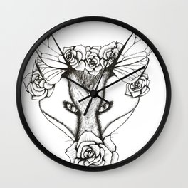 Roses and Wings Wall Clock