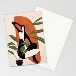 Abstract Female Figure 20 Stationery Cards