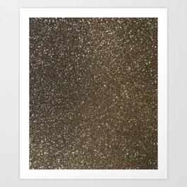 Bronze Gold Burnished Glitter Art Print