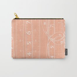 Fashion Measuring Tape - Peach Carry-All Pouch