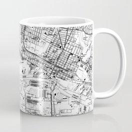 Vintage Map of Oakland California (1959) BW Coffee Mug