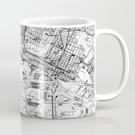 Vintage Map of Oakland California (1959) BW Coffee Mug