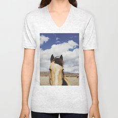 Cloudy Horse Head Unisex V-Neck
