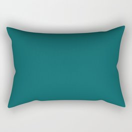 Pantone 19-4524 Shaded Spruce Rectangular Pillow