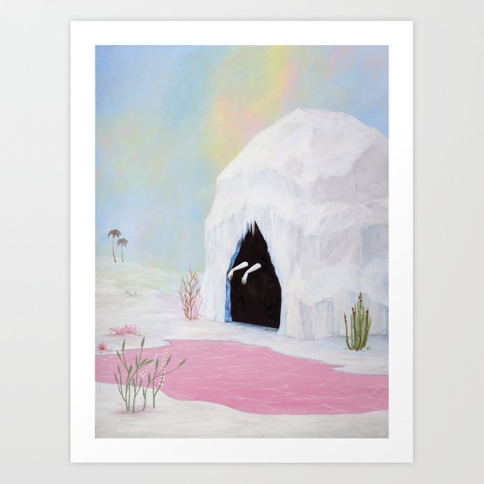 Lady of the Pink Lake Art Print