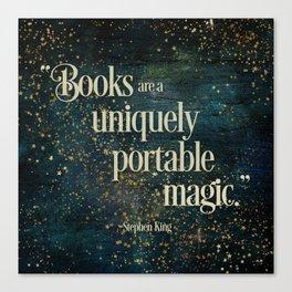 Books are a Uniquely Portable Magic Canvas Print