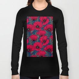 Night poppy garden  Long Sleeve T-shirt