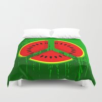 watermelon Duvet Covers featuring Watermelon by mailboxdisco