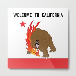 Welcome to California Metal Print