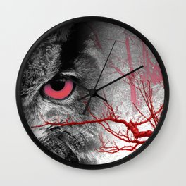 Pink-Eyed Owl & the Fanciful Forest Wall Clock