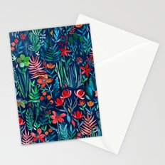 Tropical Ink - a watercolor garden Stationery Cards