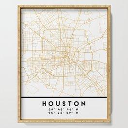 HOUSTON TEXAS CITY STREET MAP ART Serving Tray