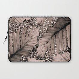Banana Leaves Glitter Glam #3 #shiny #tropical #decor #art #society6 Laptop Sleeve