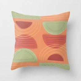 Geometric Pattern - Autumn Colours Throw Pillow