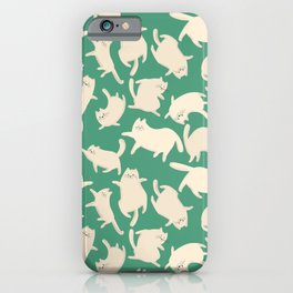 White Cats Pattern iPhone Case