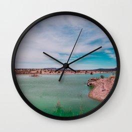 Green Waters Wall Clock