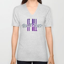 It All Will Pass - This too shall pass - Typography Unisex V-Neck