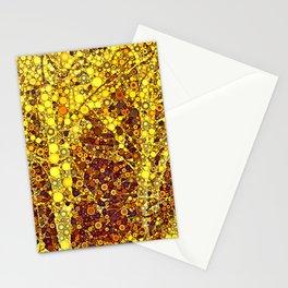 Golden Forest Stationery Cards