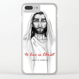 Adonai: To Live Is Christ Clear iPhone Case