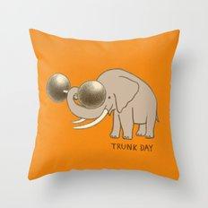 Trunk Day Throw Pillow
