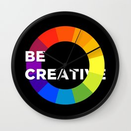Be Creative Wall Clock