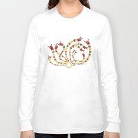 hydra Long Sleeve T-shirts featuring LERNAEAN HYDRA by Villie Karabatzia