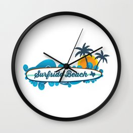 Surside Beach Texas. Wall Clock