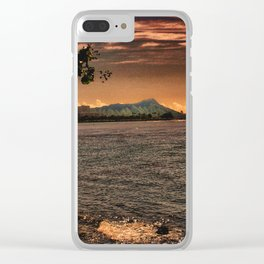 Diamond Head, Oahu Clear iPhone Case